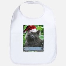 Christmas Russian Blue Long-haired Cat Bib
