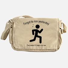 Forgot To Run Yesterday Messenger Bag