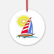 Sun and Sails Ornament (Round)
