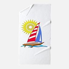 Sun and Sails Beach Towel