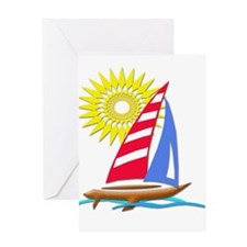 Sun and Sails Greeting Cards