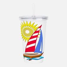 Sun and Sails Acrylic Double-wall Tumbler