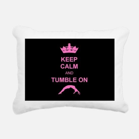 Keep Calm and Tumble on Rectangular Canvas Pillow