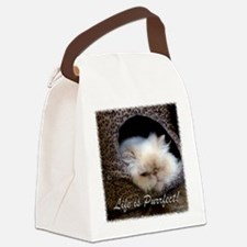 Life is Purrfect Canvas Lunch Bag