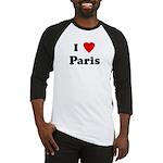I Love Paris Baseball Jersey