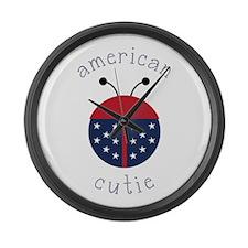 American Cutie Large Wall Clock