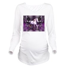 unicorn Long Sleeve Maternity T-Shirt