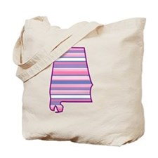 Alabama State Stripe Tote Bag