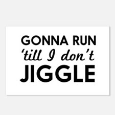 Gonna run till I don't jiggle Postcards (Package o