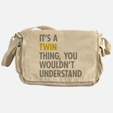 Its A Twin Thing Messenger Bag