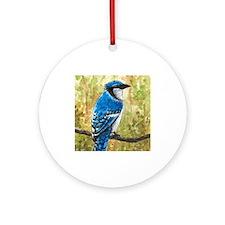 Bird 67 Blue Jay Ornament (Round)