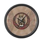 Celtic Owl Large Wall Clock
