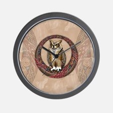 Celtic Owl Wall Clock