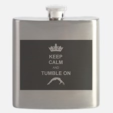 Keep Calm and Tumble on Flask