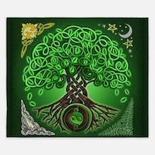 Circle Celtic Tree of Life King Duvet