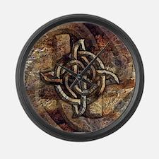Celtic Rock Knot Large Wall Clock