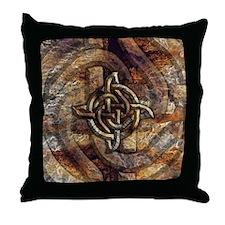 Celtic Rock Knot Throw Pillow