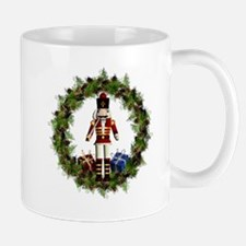Red Nutcracker Wreath Mug Mugs