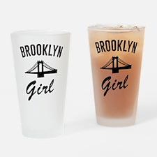 Brooklyn girl Drinking Glass