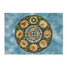Celtic Wheel of the Year 5'x7'Area Rug