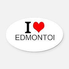 I Love Edmonton Oval Car Magnet
