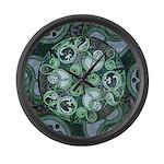Celtic Stormy Sea Mandala Large Wall Clock