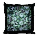 Celtic Stormy Sea Mandala Throw Pillow