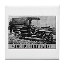 Funny Antique car Tile Coaster
