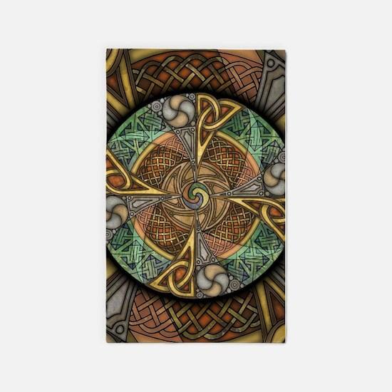 Celtic Aperture Mandala 3'x5' Area Rug