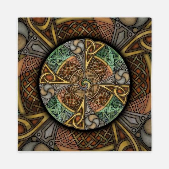 Celtic Aperture Mandala Queen Duvet