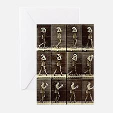Muybridge: Man with Hat Greeting Cards