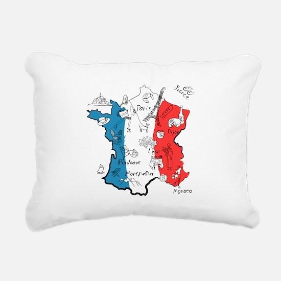 everything France Rectangular Canvas Pillow