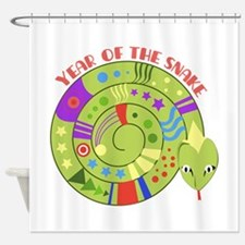 Year Of Snake Shower Curtain