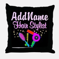 SUPER STAR STYLIST Throw Pillow