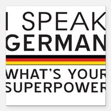 I speak German what's your superpower Square Car M