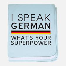 I speak German what's your superpower baby blanket
