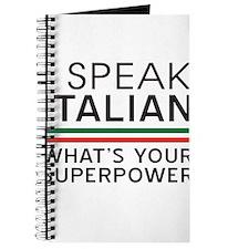 I speak Italian what's your superpower Journal