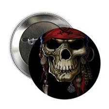 "pirate skull 2.25"" Button (10 pack)"