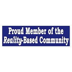 Reality-Based Community (bumper sticker)