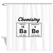 Chemistry babe Shower Curtain