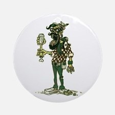 Hipster Zombie Ornament (round)