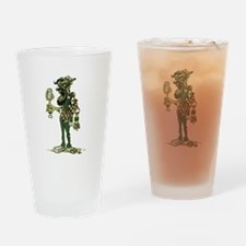 Hipster Zombie Drinking Glass