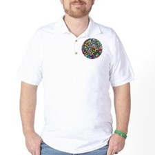 Abstract Round T-Shirt