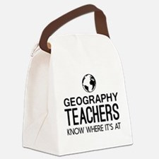 Geography knows where it's at Canvas Lunch Bag