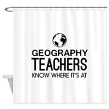 Geography knows where it's at Shower Curtain
