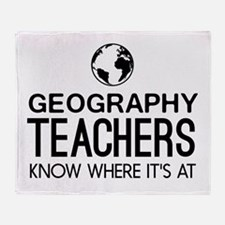 Geography knows where it's at Throw Blanket