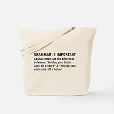 Grammar is important Tote Bag