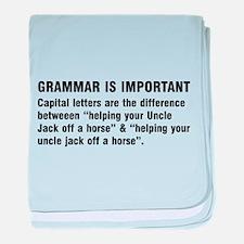Grammar is important baby blanket