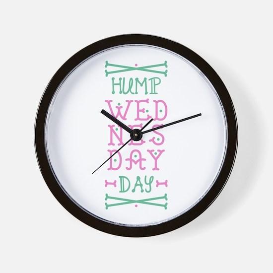 Hump Wednesday Wall Clock