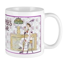 Tiffany Soda Fountain Coke Lady Mugs